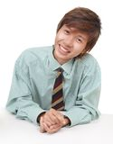 Convincing Asian salesman Royalty Free Stock Photography