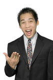 Convincing Asian salesman Stock Photography