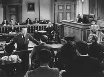 Convincing the jury stock image