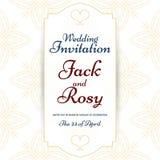 Convite árabe do casamento do teste padrão do estilo do vintage Imagens de Stock Royalty Free