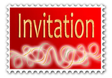 Convite Imagem de Stock Royalty Free