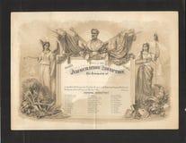 Convite 1869 da inauguração de Ulysses S. Grant Imagens de Stock