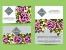 Convite abstrato da elegância com fundo floral Foto de Stock