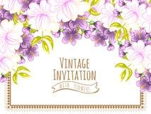 Convite abstrato da elegância com fundo floral Fotos de Stock Royalty Free