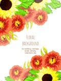 Convite abstrato da elegância com fundo floral Imagens de Stock Royalty Free