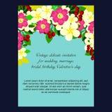 Convite abstrato da elegância com fundo floral Imagem de Stock