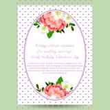 Convite abstrato da elegância com fundo floral Fotografia de Stock