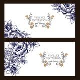 Convite abstrato da elegância com fundo floral Foto de Stock Royalty Free