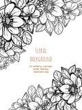 Convite abstrato da elegância com fundo floral Imagens de Stock