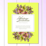 Convite abstrato da elegância com fundo floral Fotos de Stock