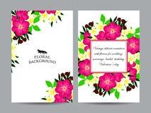 Convite abstrato da elegância com fundo floral Imagem de Stock Royalty Free