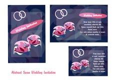 Convite abstrato do casamento da cisne Foto de Stock Royalty Free