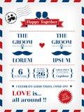 Convite alegre do casamento ilustração royalty free