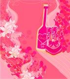 Convite ao cocktail do aniversário Imagens de Stock Royalty Free