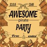 Convite ao partido Imagens de Stock Royalty Free