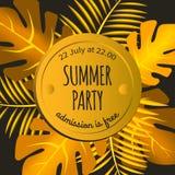 Convite ao partido do verão Fotografia de Stock