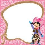 Convite bonito da festa de anos do Cowgirl Fotografia de Stock