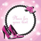 Convite bonito maravilhoso Fotos de Stock Royalty Free