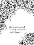 Convite botânico romântico Fotos de Stock Royalty Free