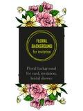 Convite botânico romântico Fotos de Stock