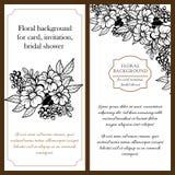 Convite botânico romântico Imagens de Stock