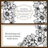 Convite botânico romântico Foto de Stock Royalty Free