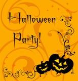 Convite/cartão de Halloween Ilustração Stock