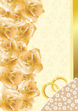 Convite/cartão do casamento Fotos de Stock