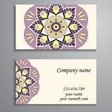 Convite, cartão ou bandeira com molde do texto Fl redondo Imagens de Stock