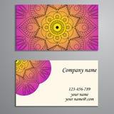 Convite, cartão ou bandeira com molde do texto Fl redondo Fotografia de Stock Royalty Free