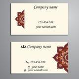 Convite, cartão ou bandeira com molde do texto Fl redondo Fotos de Stock Royalty Free