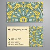 Convite, cartão ou bandeira com molde do texto Fl redondo Fotos de Stock