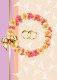 Convite/cartão do casamento Fotos de Stock Royalty Free