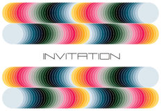 Convite colorido geométrico Fotografia de Stock Royalty Free