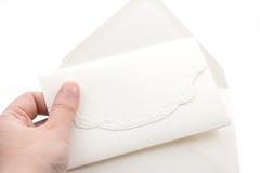 Convite com envelope Foto de Stock