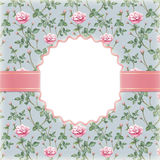 Convite com ilustração da flor cor-de-rosa Fotografia de Stock