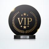 Convite com o troféu preto da concessão, vetor do Vip Imagens de Stock