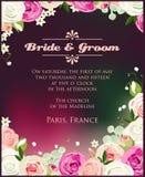 Convite com rosas Imagens de Stock