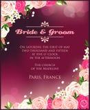Convite com rosas Fotos de Stock