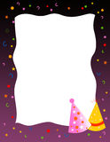 Convite/cumprimento da festa de anos Imagem de Stock Royalty Free
