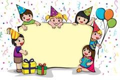 Convite da festa de anos Foto de Stock
