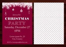 Convite da festa de Natal Imagens de Stock Royalty Free
