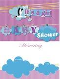Convite da festa do bebê é uma menina Foto de Stock Royalty Free