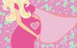 Convite da festa do bebê Fotos de Stock