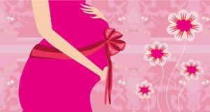 Convite da festa do bebê - seu uma menina Fotografia de Stock Royalty Free