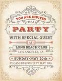 Convite de alta qualidade do partido do vetor Fotografia de Stock Royalty Free