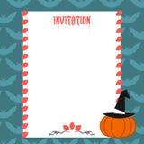 Convite de Dia das Bruxas Imagem de Stock