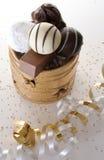 Convite de la Navidad del chocolate Foto de archivo libre de regalías