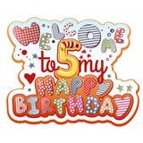 Convite do aniversário Foto de Stock Royalty Free