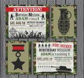 Convite do aniversário Foto de Stock